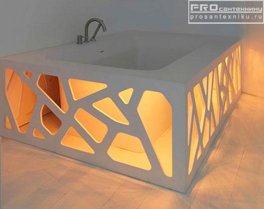 Ванна с подсветкой внизу