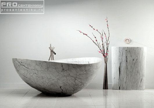 Каменная мраморная ванна