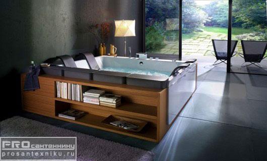 Ванна с полочками